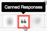 定型文による応答アイコン