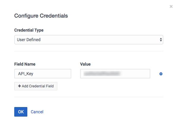 Configurar credenciales para definido por el usuario