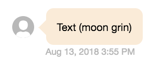 image ot text and emoji sent together