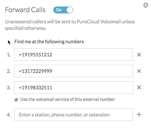 Follow-me call forwarding - PureCloud Resource Center
