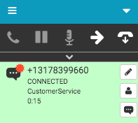 SMS interaction connected