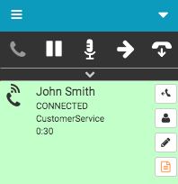 Voicemail callback connected