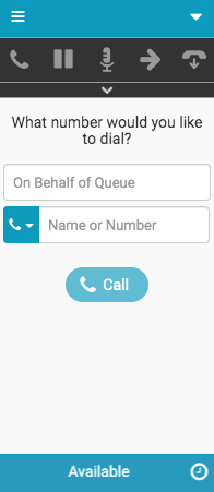 New Interaction window for calls