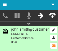 Email interaction connected