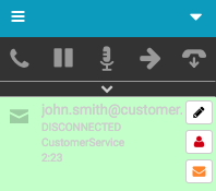 Email interaction disconnected