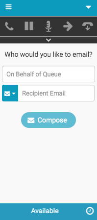New Interaction window for emails