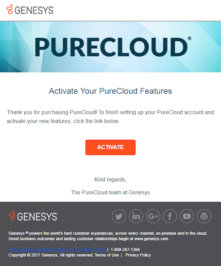 Self start: PureCloud onboarding steps - PureCloud Resource