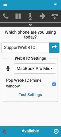 WebRTC Settings in Genesys Cloud for Zendesk using Firefox