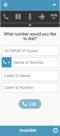 New Interaction window for calls with caller ID