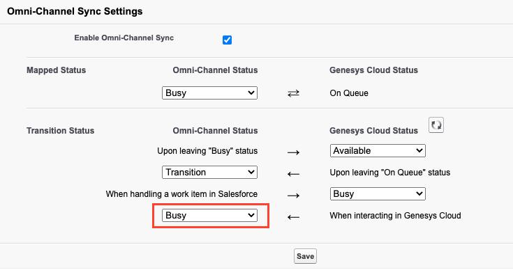 Omni-Channel Sync Settings