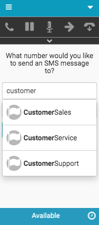 New Interaction window for SMS messages