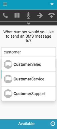 SMSメッセージ用の新しいインタラクションウィンドウ