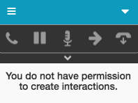 Message indicating no permission to create interactions