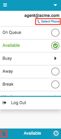 Select phone option