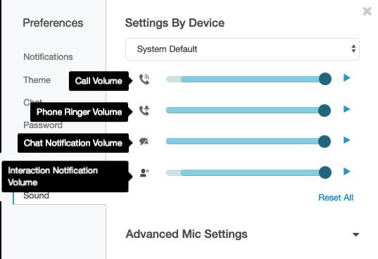 Set PureCloud sound level preferences - PureCloud Resource