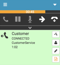 Outbound dialing interaction number connected with timer