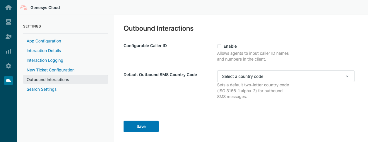 Settings for Outbound Interactions in PureCloud for Zendesk