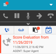 Interaction evaluation notification in the client