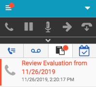 Released evaluation notification in the client