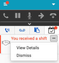 Options for shift trade request notifications in the client