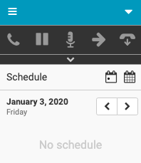 Current day in agent's schedule