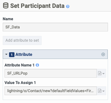 Set Participant Data with SF_URLPop attribute