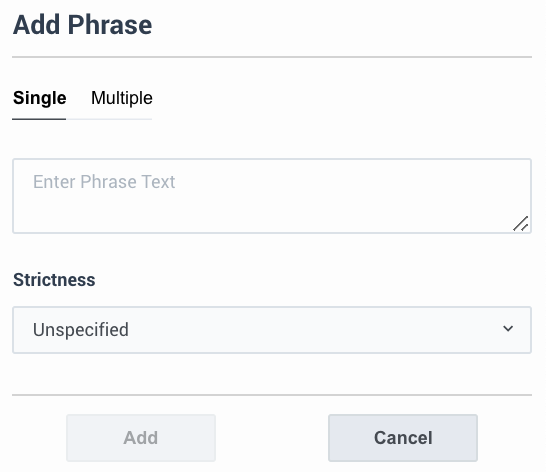 Add phrase window.